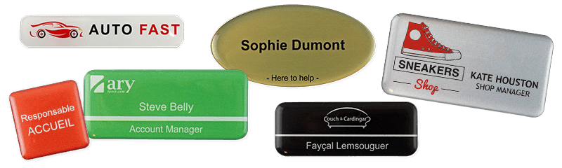 Badges nominatifs permanents