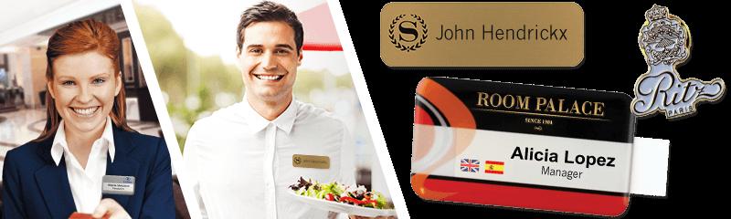 Badges pour hôtels et restaurants