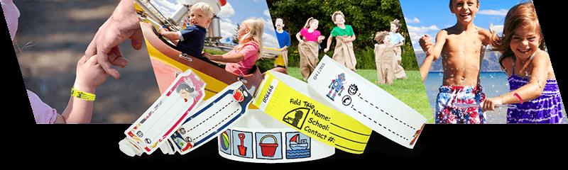 Bracelets d'identification pour enfants