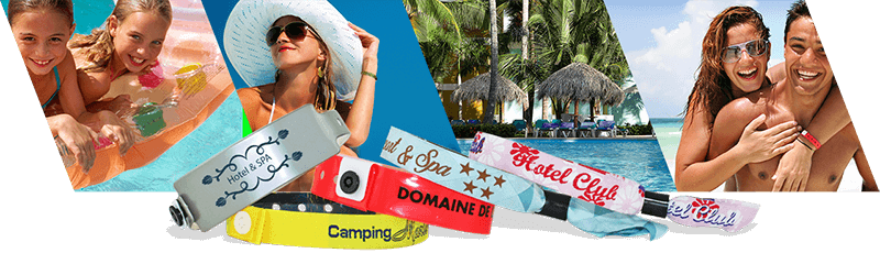 Bracelets pour hotels et campings