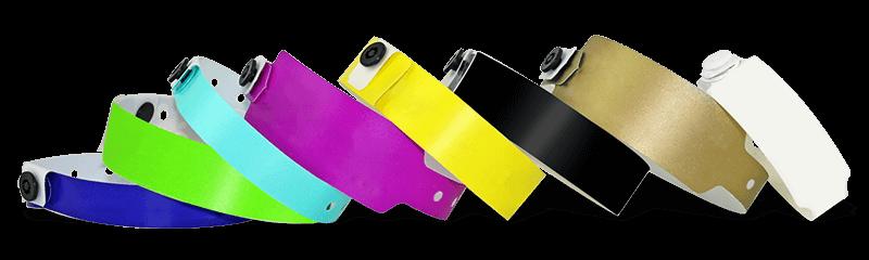 Bracelets en plastique non personnalisés