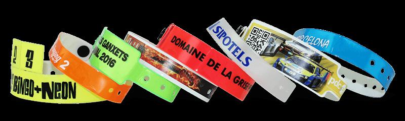 Bracelets en vinyle personnalisés