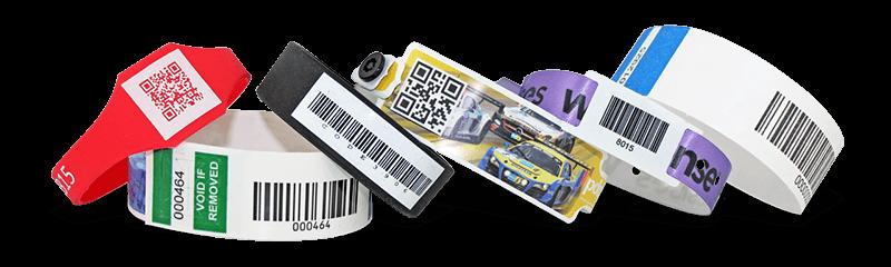 Bracelets d'identification avec codes-barres / codes QR