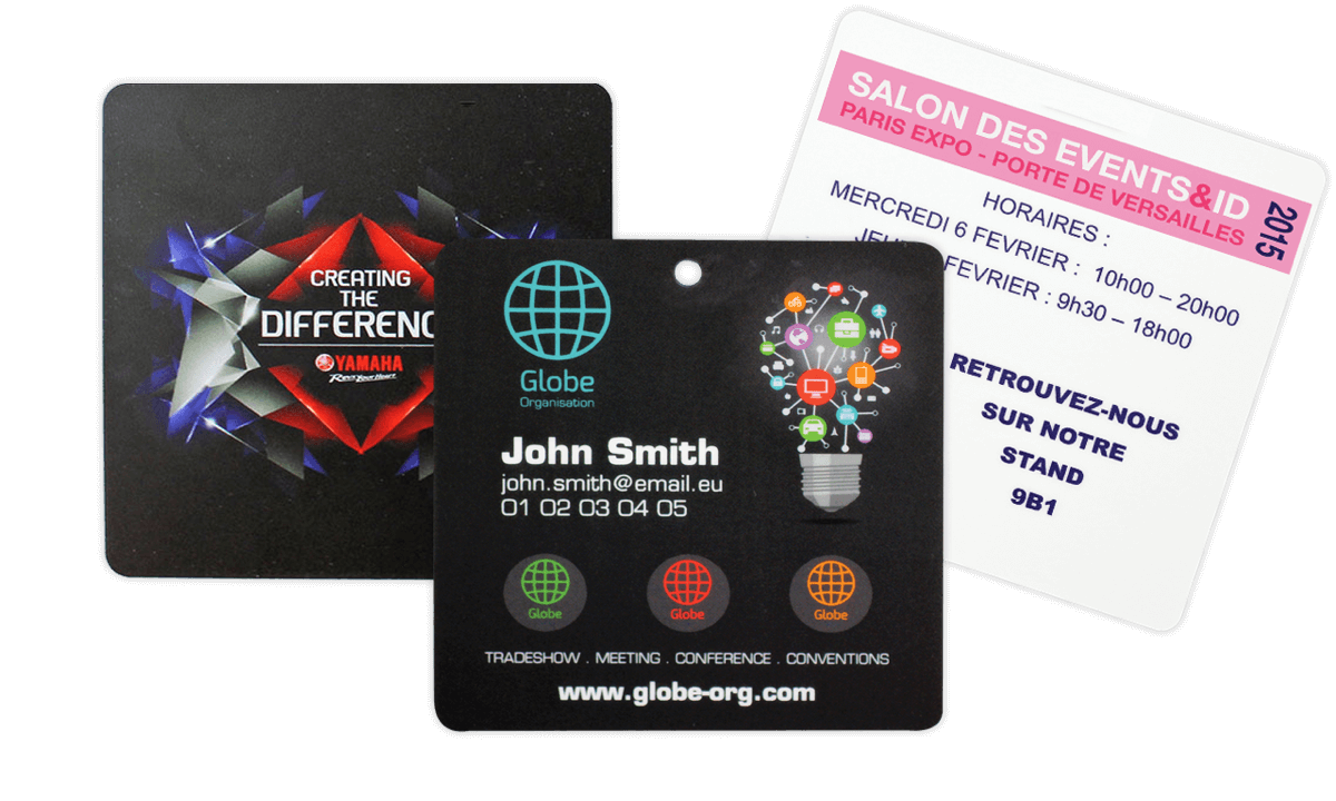 Badges Event 95mm X 98mm (PVC)