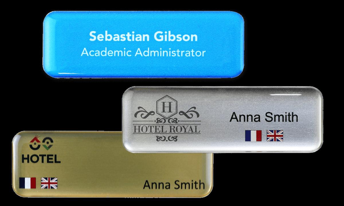 Badges nominatifs Premium Impress, 75 X 25 mm
