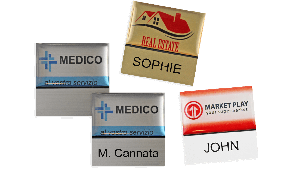 Badges nominatifs Premium Réutilisables pour étiquettes adhésives 12 mm, 32 X 32 mm