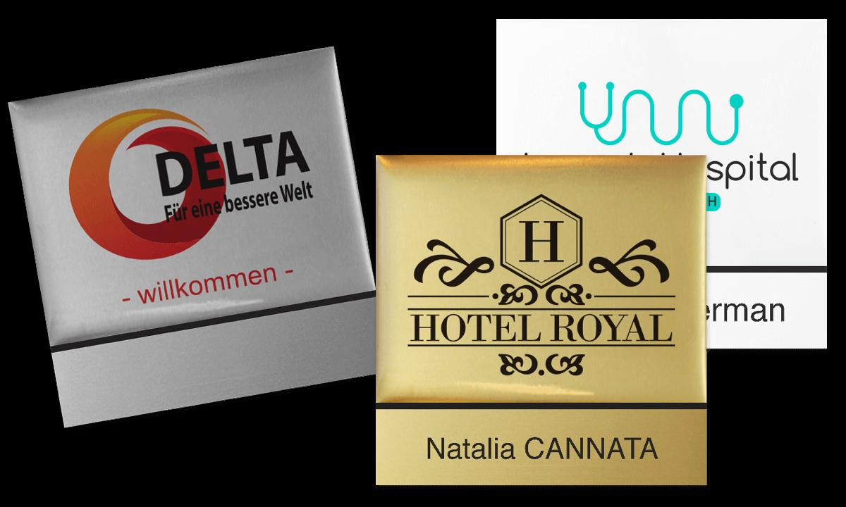 Badges nominatifs Premium Réutilisables pour étiquettes adhésives 12 mm, 50 X 50 mm