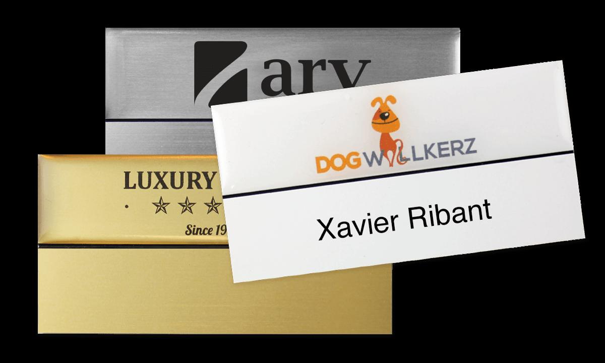 Badges nominatifs Premium Réutilisables pour étiquettes adhésives 18 mm, 75 X 38 mm