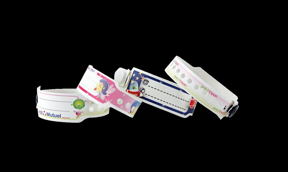 Bracelets en plastique 19 mm pour les enfants - Impression digitale en couleurs, qualité photo
