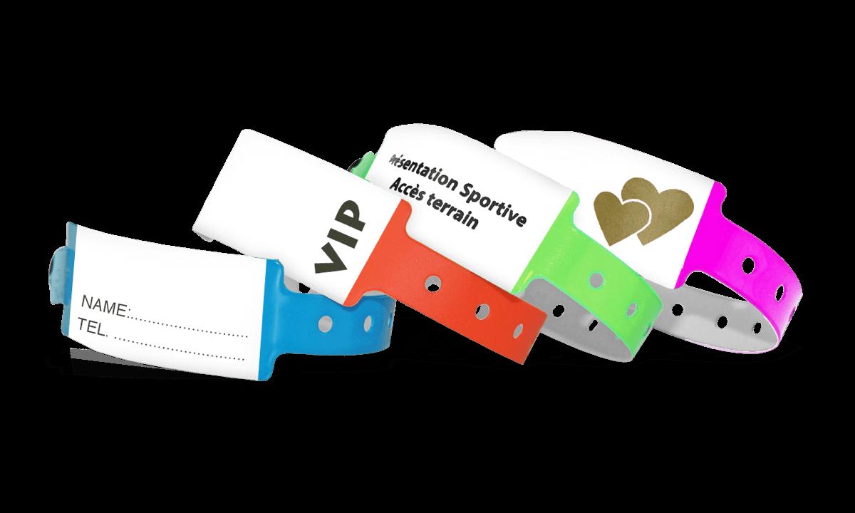 Bracelets en Vinyle 25 mm inscriptibles à la main avec impression en 1 couleur
