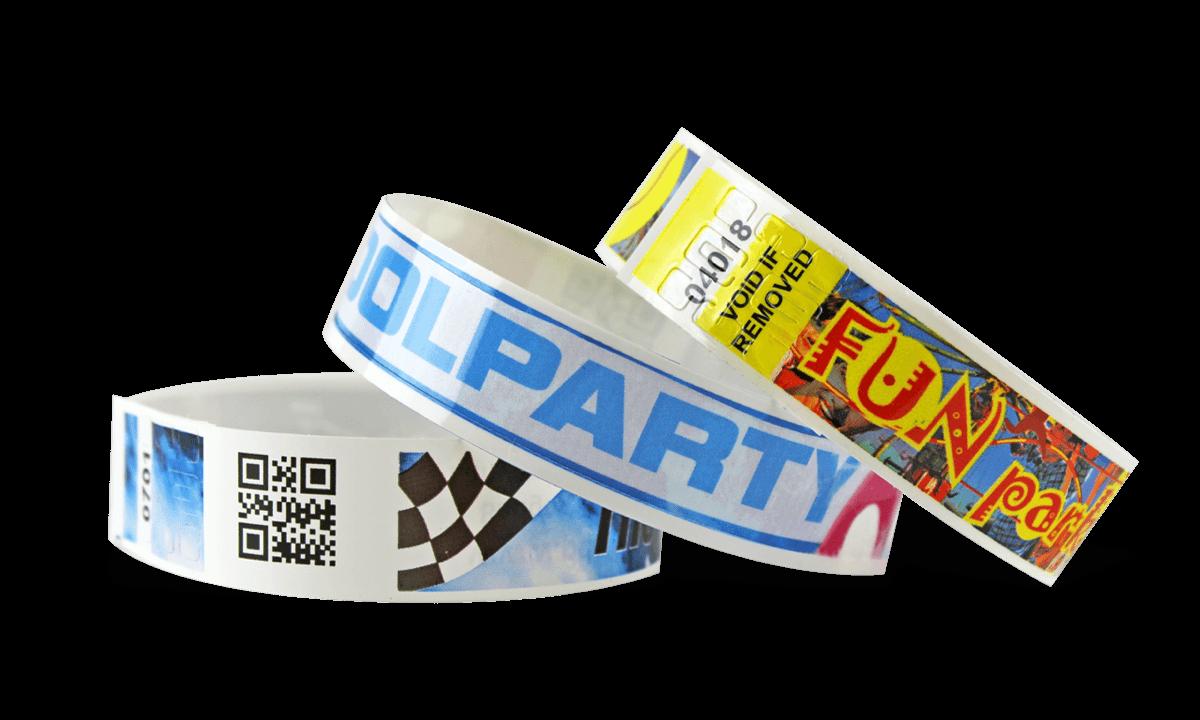 Bracelets à code-barres avec impression digitale en couleur, NVS 19 mm (Finition brillante)