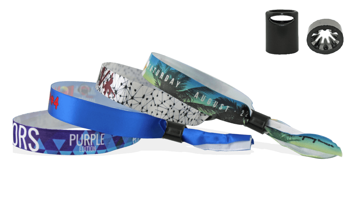 Bracelets en satin souple avec fermeture coulissante en plastique anti-torsion (Sydney)