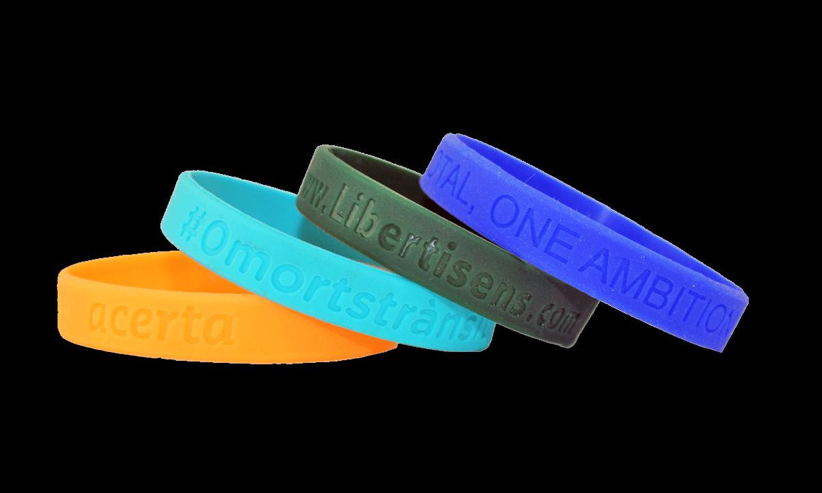 Bracelets en silicone avec gravure, taille moyenne / jeune