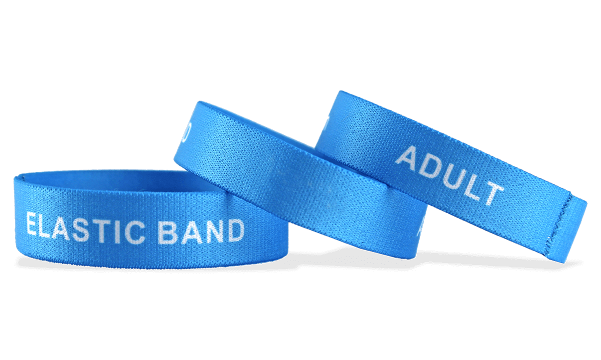 Bracelets élastiques personnalisés, grande taille / adulte