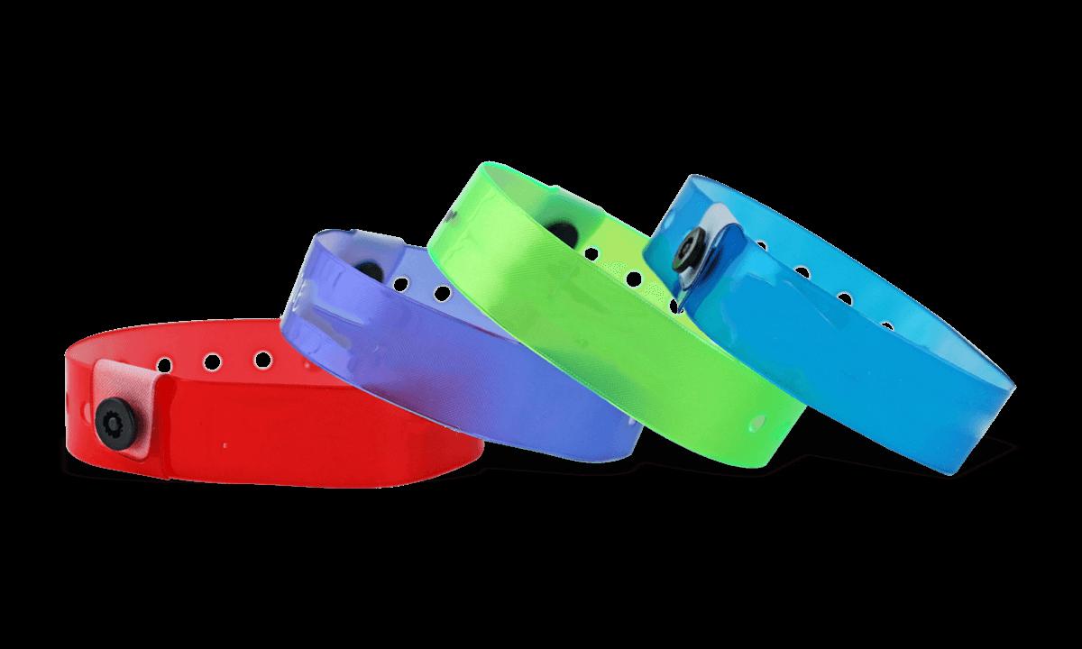 Bracelets en vinyle translucide, 19 mm, sans impression