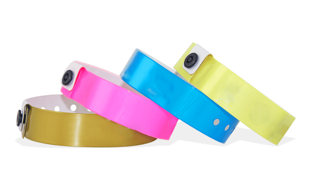 Bracelets en vinyle, 19 mm, sans impression