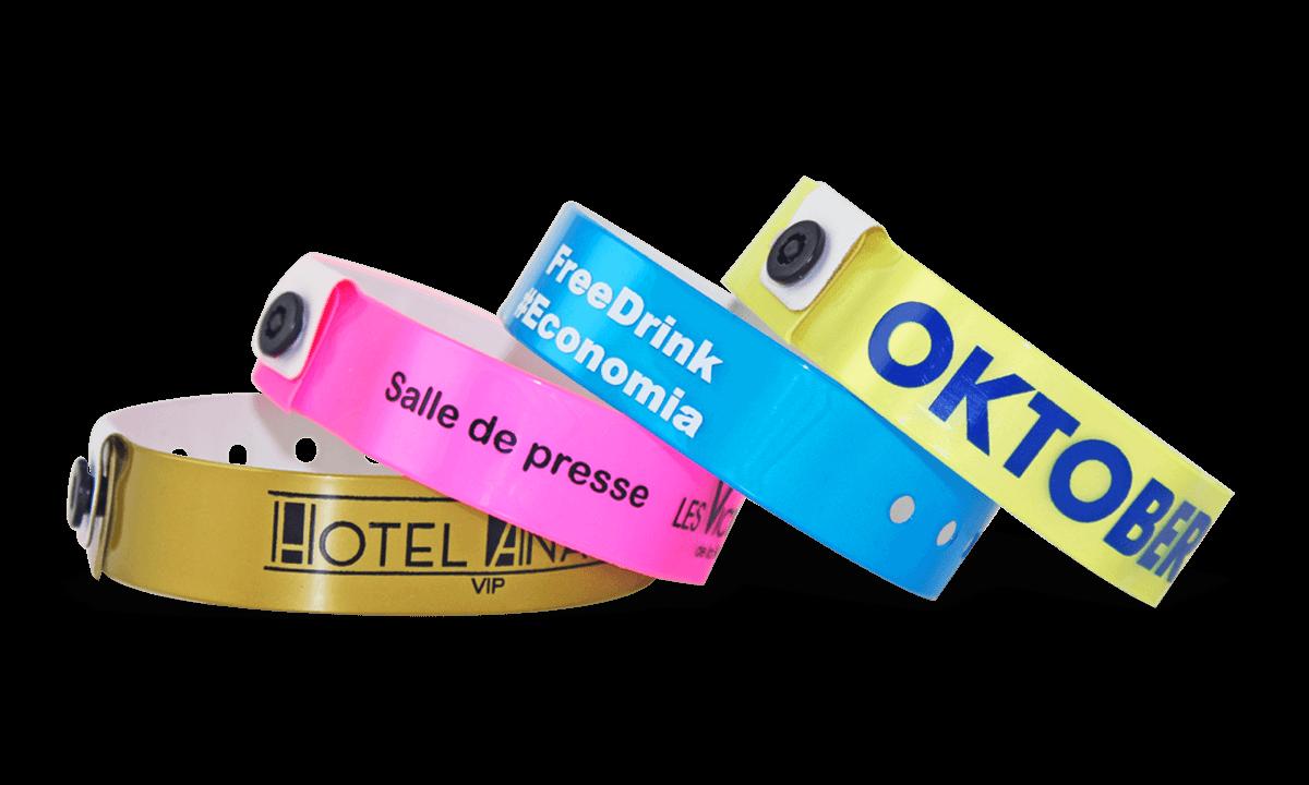 Bracelets en vinyle, 19 mm, imprimés