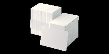 Cartes PVC vierges et à verso avec adhésifs - 250 mic