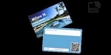 Cartes RFID 86 x 54 mm Imprimées - Puce Mifare 1K