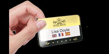 Badges réutilisables Selfit® PRO Double ligne, 70 x 40 mm