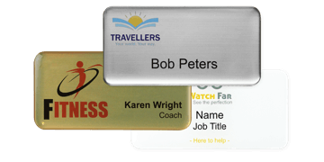 Badges nominatifs Premium Impress, 75 X 38 mm