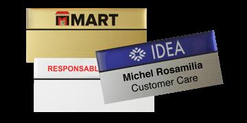 Badges nominatifs Premium Réutilisables pour étiquettes adhésives 24 mm, 75 X 38 mm