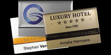 Badges nominatifs Premium Réutilisables pour étiquettes adhésives 12 mm, 75 X 50 mm