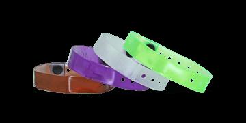 Bracelets en vinyle translucide, 13 mm, sans impression