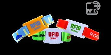 Bracelets RFID en tissu avec glissière en PVC