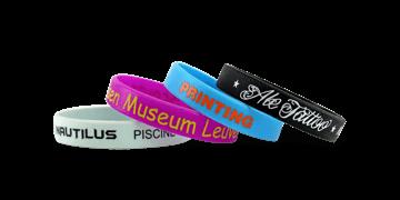 Bracelets en silicone imprimés, taille large / adulte