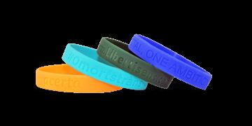 Bracelets en silicone avec gravure, taille large / adulte