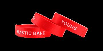 Bracelets élastiques personnalisés, taille moyenne / jeune