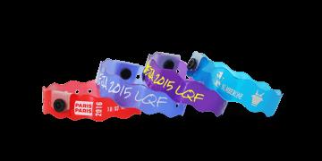 """Bracelets en vinyle translucide """"Vague"""", 19 mm, imprimés"""