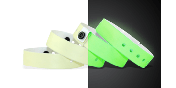 Bracelets en vinyle phosphorescent, 19 mm, sans impression