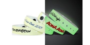 Bracelets en vinyle phosphorescent, 19 mm, imprimés