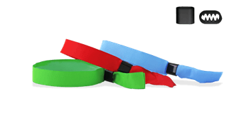 Bracelets en tissu de stock avec fermeture coulissante plate en plastique (Berlin)
