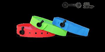 Bracelets en tissu de stock avec fermeture ronde en plastique à pression (Nice)