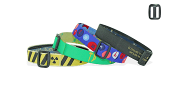 Bracelets en tissu ave boucle en plastique réutilisable (Roma)